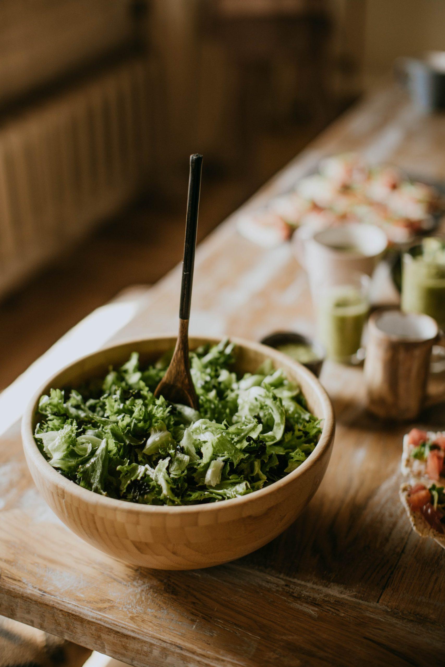 green vegetable salad sweet vinegar dressing moringa vinga recipe