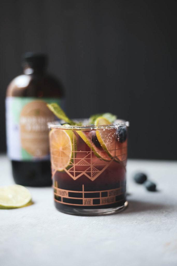 Elderberry Blueberry Lime Mocktail moringa vinga recipe